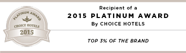 2015 Platinum Award by Choice Hotels
